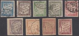 Colonies Générales - Timbres-taxe N° 18 à 26 (YT) N° 18 à 26 (AM) Oblitérés. - Postage Due