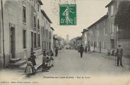 CHAZELLES-SUR-LYON  Rue De Lyon  1910 - Francia