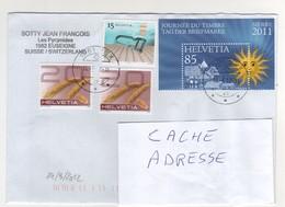 : Beaux Timbres , Stamps Sur Lettre , Cover , Mail Du 14/03/2012 Pour La France - Suisse