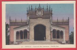 CPA-SEVILLA- 1929- EXPO IBERO AMERICAINE - Pabellon Real * 2 SCAN - Sevilla (Siviglia)