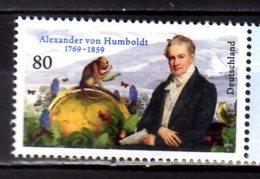 2019 Germany - 250 Years Of Alexander Von Humboldt Birthday Humanist, Nature Research MNH** MiNr. 3492 Monkey Globus - Unused Stamps