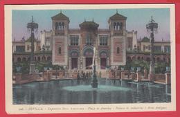 CPA-SEVILLA- 1929- EXPO IBERO AMERICAINE - Plaza De America -Palacio De Industrias Y Artes Antiguos* 2 SCAN - Sevilla (Siviglia)