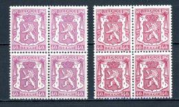 BE   479 - 479a   XX    ---   Les Deux Nuances En Blocs De 4... - 1935-1949 Small Seal Of The State