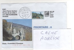 Belle Enveloppe ,  Lettre , Cover , Mail Du 13/12/2012 Pour La France - Switzerland