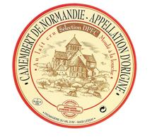 ETIQUETTE De FROMAGE..CAMEMBERT De  NORMANDIE..Sélection DPFC...Fromagerie Du VAL D'AY à LESSAY ( Manche 50) - Cheese