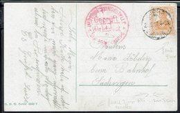 """Allemagne - 1917 - Guerre 14/18 - Affr. 7,5 Pf Sur CPA """"Bufarenliebe"""" De Baden Pour Sackingen -Contrôle Gepruft Waldshut - Covers & Documents"""