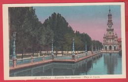CPA-SEVILLA- 1929- EXPO IBERO AMERICAINE - Plaza De Espana* 2 SCAN - Sevilla (Siviglia)