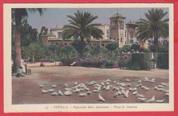 CPA-SEVILLA- 1929- EXPO IBERO AMERICAINE - Plaza De America - N° 57* 2 SCAN - Sevilla (Siviglia)