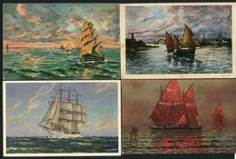LOT DE 10 CARTES POSTALES DE VOILIERS - Postkaarten