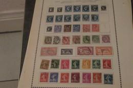 France  Collection Sur Feuilles 1862 - 1960      33 Scans Timbres Oblitérés  Quelques N* - Collections (sans Albums)
