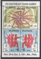 1991 Philippines Asian Games Gymnastics Martial Arts  Souvenir Sheet MNH - Philippines