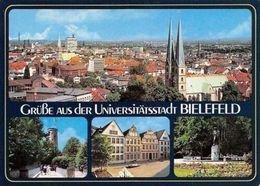 Gruesse Aus Der Universitaetsstadt Bielefeld Kirche Brunnen Statue Church - Deutschland