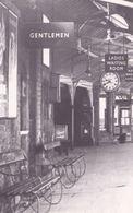 Caernarvon Railway Station Welsh Pillar Box Toilets Real Photo Postcard - Post