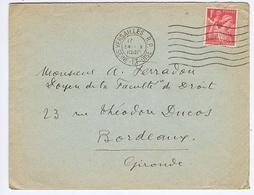 YVELINES - Flamme Muette Ondulée à Droite VERSAILLES R.P. Du 24 - X  1940 Ou 1O4O ? - Marcophilie (Lettres)