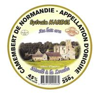 ETIQUETTE De FROMAGE..CAMEMBERT De NORMANDIE..Abbaye De Hambye..Sylvain HARDEL - Cheese