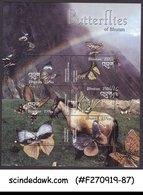 BHUTAN - 2003 BUTTERFLIES OF BHUTAN / BUTTERFLY MIN/SHT MNH - Bhutan