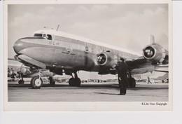 Vintage Rppc KLM K.L.M Royal Dutch Airlines Douglas Dc-6@ Schiphol Amsterdam Airport - 1919-1938: Entre Guerres