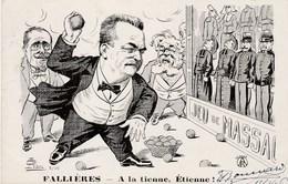 CPA Caricature Satirique Politique Jeu De Massacre FALLIERES ROUVIER Anti Cléricalisme Illustrateur  G. LION (2 Scans) - Satiriques