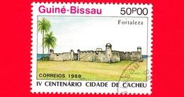 Nuovo - GUINEA BISSAU - 1989 (1988) - 400 Anniversario Della Città Di Cacheu - Fortezza - 50 - Guinea-Bissau