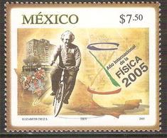 2005 México Año Internacional De La Física  Sello MNH EINSTEIN SCIENCE,  -BICYCLE,  YEAR OF PHYSICS, BIKE Sc. 2044 - México