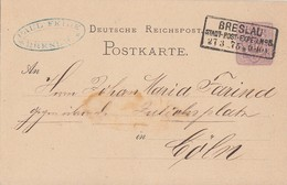DR Ganzsache R3 Breslau Stadt.Post.Exped. Nr.5  23.3.75 - Covers & Documents