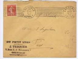 ISERE - Flamme Muette Continue GRENOBLE Du 19 MAI  1913 - Marcophilie (Lettres)