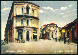 PALESTINE / ISRAEL / JUDAICA / CHRISTIANITY / VINTAGE CARD / REPRINT / JERUSALEM : HOTEL FAST - Palestina