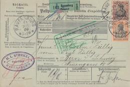 DR Paketkarte Mif Minr.74,91I Ravensburg 11.8.06 Perfins HLS Gel. In Schweiz - Covers & Documents