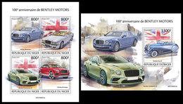 NIGER 2019 - Bentley Motors, M/S + S/S. Official Issue [NIG190501] - Fabbriche E Imprese
