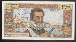 50 Nf Henry IV  7.4.1960  Sup - 1959-1966 ''Nouveaux Francs''