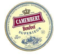 ETIQUETTE De FROMAGE..CAMEMBERT Fabriqué En FRANCE..BonAmi - Cheese