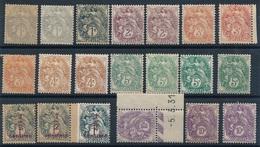 "DE-91: FRANCE: Lot  ""TYpe Blanc""  Neufs** Dont 109b - 1900-29 Blanc"