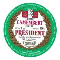 ETIQUETTE De FROMAGE..CAMEMBERT PRESIDENT...BESNIER Normandie - Cheese