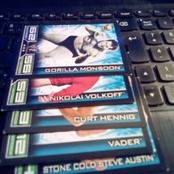 W LEGENDS TOPPS SLAM ATTAX TRADING CARDS GAME 5 ALL DIFFERENTS - Trading Cards