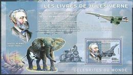 Congo 2006 Jules Verne Elephant Concorde Train MNH - Minéraux