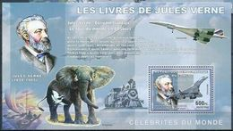 Congo 2006 Jules Verne Elephant Concorde Train MNH - Mineralien