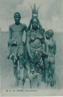 D.S.W. Afrika, Herrerofrauen, Femme Seins Nus, Photo Of Old  Postcard, 2 Scans - Namibie