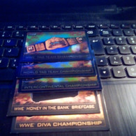 TITLE CARD TOPPS SLAM ATTAX TRADING CARDS GAME 5 ALL DIFFERENTS - Trading Cards