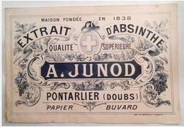Buvard A. JUNOD ( Pontarlier ) Extraot D' Absinthe - Liqueur & Bière