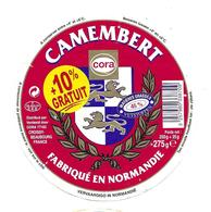 ETIQUETTE De FROMAGE..CAMEMBERT Fabriqué En NORMANDIE..CORA - Cheese