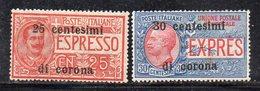 XP4085 - TRENTO TRIESTE 1919 , Sassone Espresso N. 1/2  *  Linguella - 8. WW I Occupation