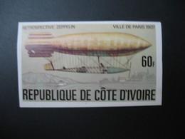 Timbre ND non Dentelé Neuf ** MNH - Imperf Côte-d'Ivoire    N° 434  Zeppelin - Zeppelins