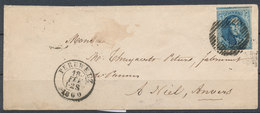 1860 BRIEF Met COB 11A? Van PERUWELZ Naar BOOM  Zie Scan(s) VL - 1849-1865 Medallions (Other)