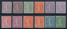 """DE-98: FRANCE: Lot """"Semeuse Lignées """"neuves * (* Propres) - 1903-60 Semeuse Lignée"""