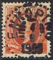 1891-1904. Oscar II. 25 öre Red Orange. ENKÖPING 4 9 1905. (Michel 46) - JF164408 - Oblitérés