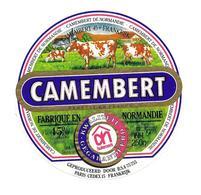 ETIQUETTE De FROMAGE..CAMEMBERT Fabriqué En NORMANDIE..Huismerk - Cheese