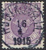 1911.4 ÖRE. HUDIKSVALL 16 4 1915. (MICHEL 67) - JF164425 - Oblitérés