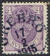 1911.4 ÖRE. ÖREBRO 17 2 1915. (MICHEL 67) - JF164426 - Oblitérés