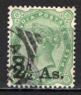 INDIA INGLESE - 1891 - EFFIGIE DELLA REGINA VITTORIA CON SOVRASTAMPA - OVERPRINTED - USATO - India (...-1947)