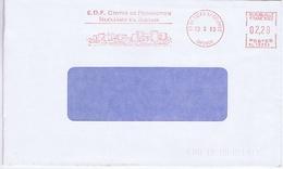 GIRONDE - Flamme Rouge Illustrée à Gauche ST  CIERS S/ GIRONDE E.D.F. Centre Production Nucléaire Du Blayais - Marcophilie (Lettres)